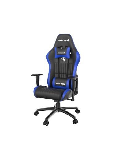 Fotel gamingowy ANDA SEAT Jungle Series Czarno niebieski