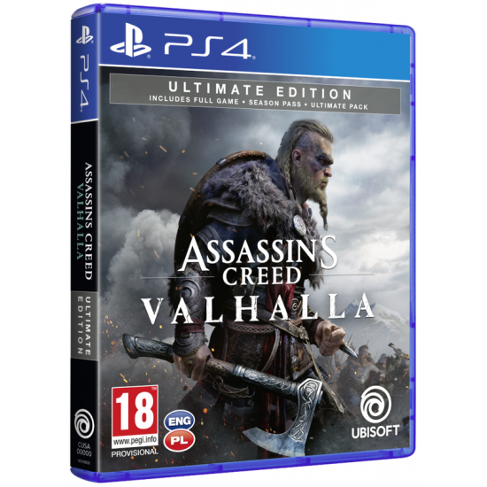 Assassins Creed Valhalla Ultimate Edition PL + nakładki na analogi