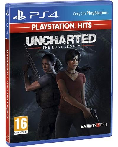 Uncharted Zaginione Dziedzictwo Playstation Hits PS4 PL + nakładki na analogi