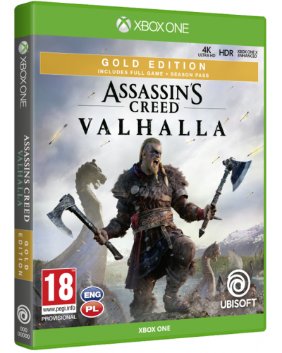 Assassins Creed Valhalla Gold Edition PL + nakładki na analogi